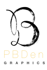 The letters P,B, and D are merged in to one script text that resembles an upper case B