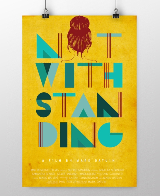Typography poster Not With Standing using custom type and digitally illustrated