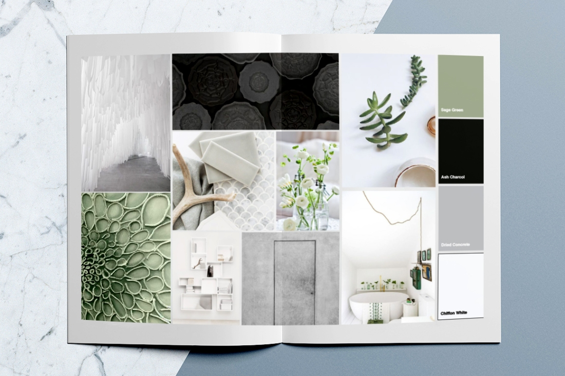 Mood board for a new brand called Stray and Wander