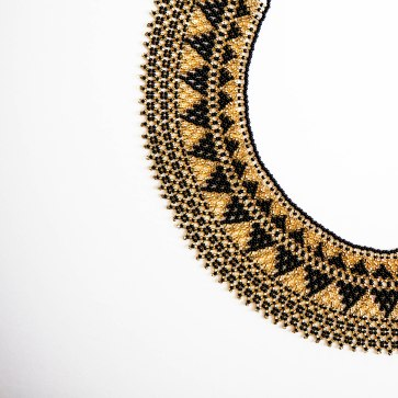 Hand beaded Guatemalan statement necklace