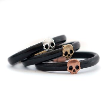 walmer leather collection with skull details