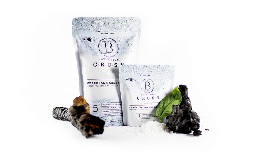 Charcoal Garden Detox from bathorium's New CRUSH bath soak