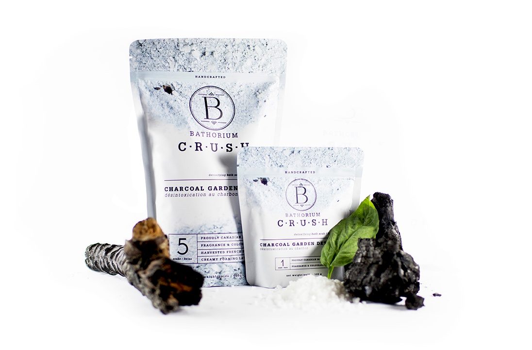 Charcoal Garden Detox from bathorium's New CRUSH bath soak