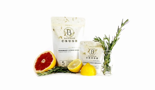 Rosemary Citrus Emulsion from Bathorium's Bath Soak Crush line