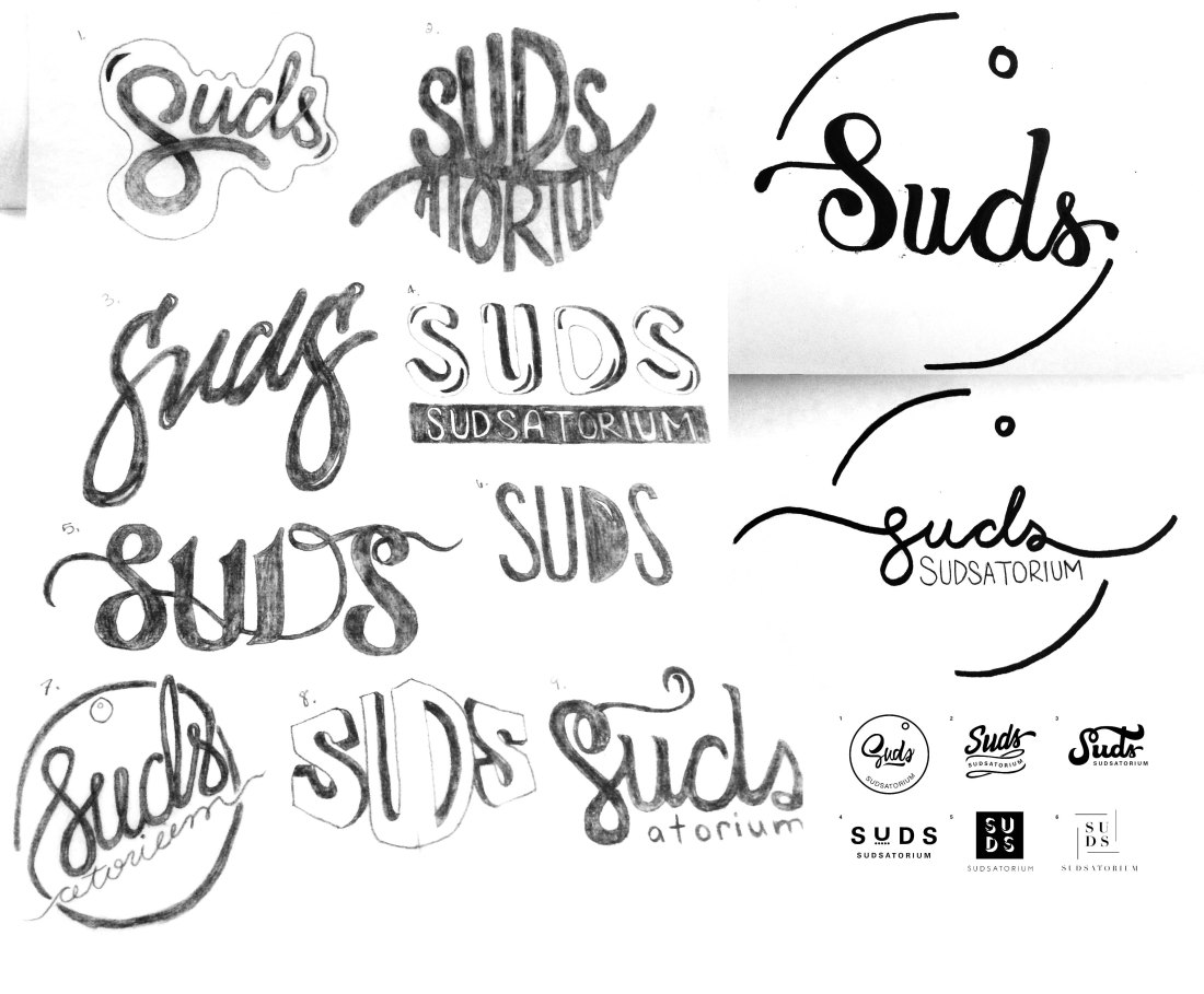 Sudsatorium initial sketches