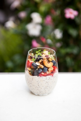 Chia Seed Pudding with Fruits and nutes
