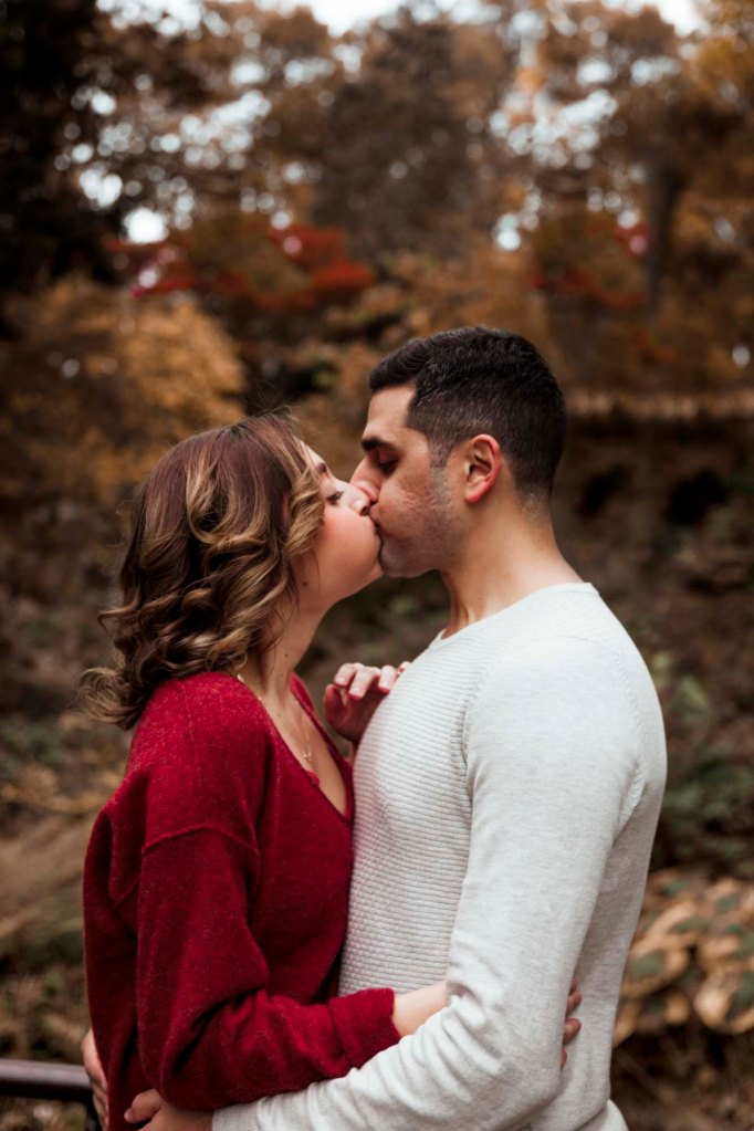 Erica and Safe's Engagement photo- playful