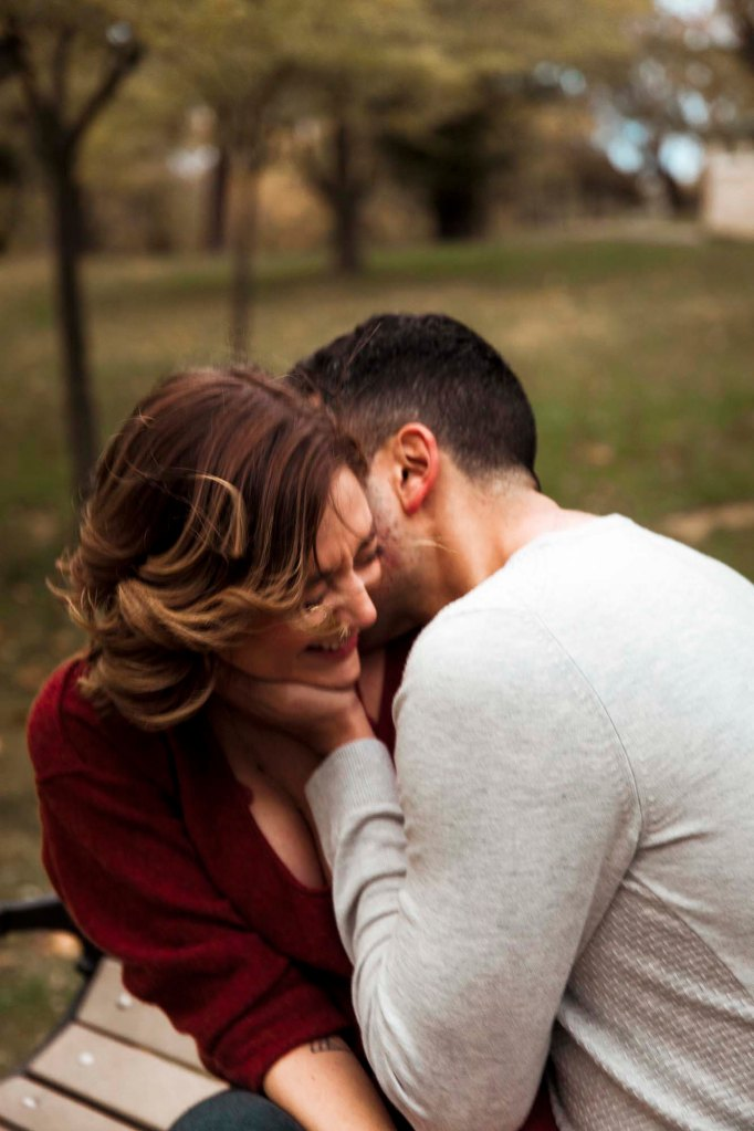 Erica and Safe's Engagement photo - kissing