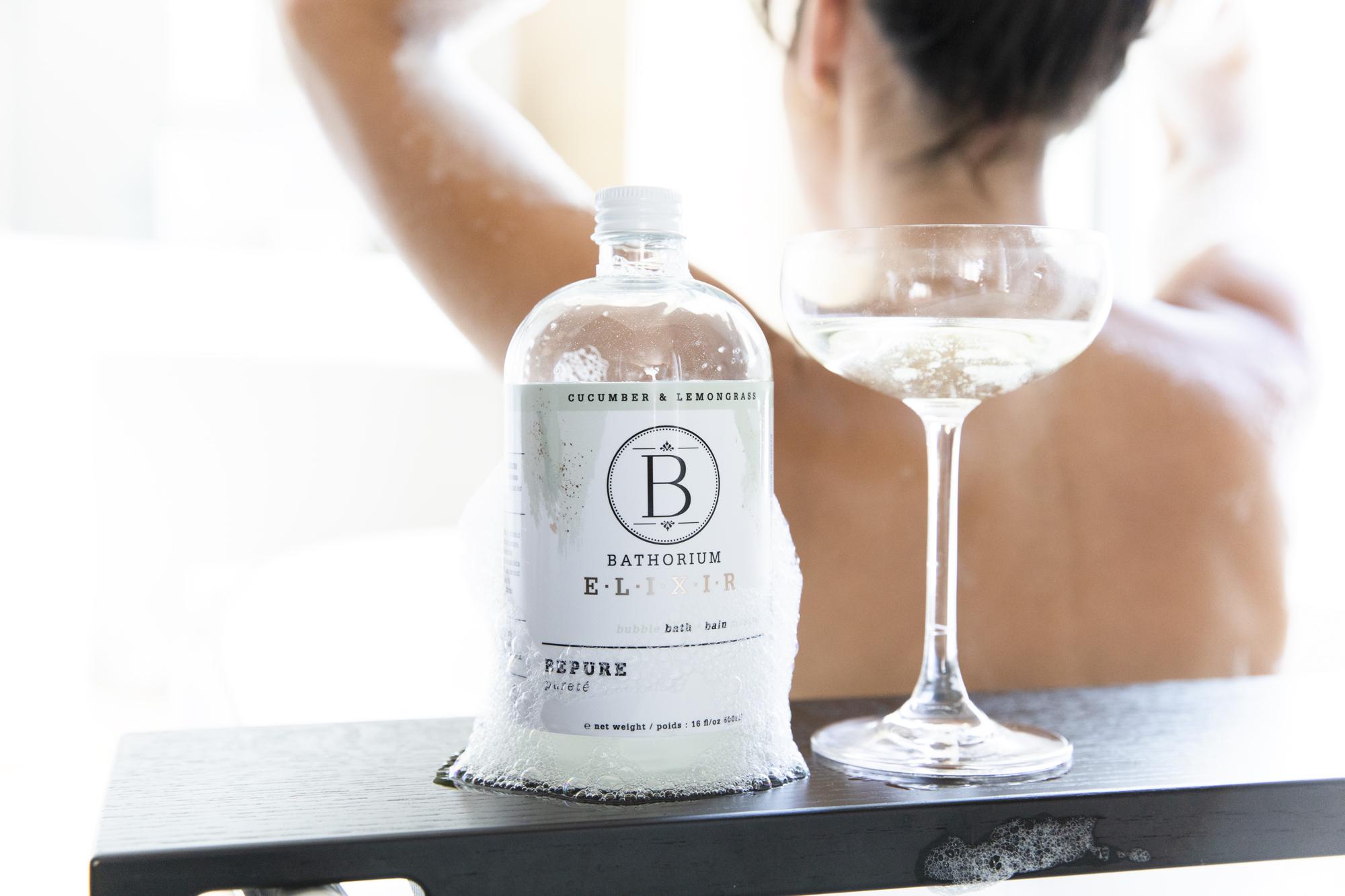 Bathorium BePure and glass of wine